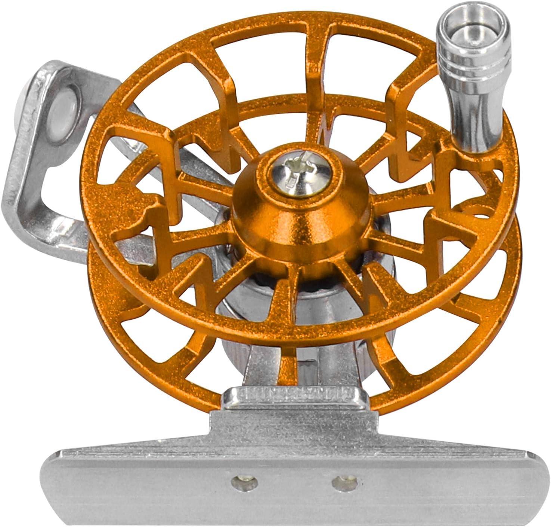 Portable Ice Fishing Wheel Aluminum Alloy Right-Handed Fly Fishing Reel Labor-Saving Fly Reel Fish Tackle