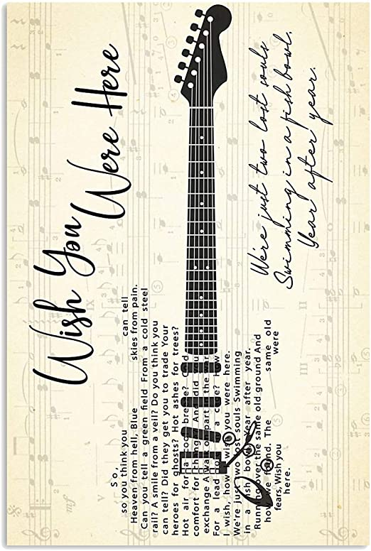 Bright Stones Pink Floyd Wish You Were Here Song Lyrics Signed Gift Poster For Fan Poster Home Art Wall Posters No Framed Posters Prints