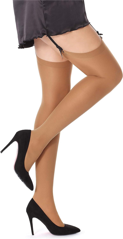 Bellivalini Womens 40 DEN Microfiber Stockings 2 Pack BLVFI1006