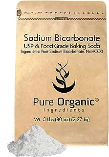 Sodium Bicarbonate by Pure Organic Ingredients (5 lb.), Baking Soda, Highest Purity, Food & USP Grade