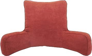 Arlee Suede Oversized Bedrest Lounger, Burgundy