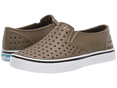 Native Kids Shoes Miles Slip-On (Little Kid/Big Kid) (Utility Green/Shell White) Boys Shoes