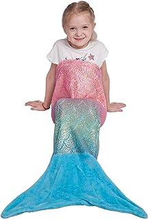 Manta de Cola de Sirena para niños, Tela de Franela Suave, Saco de Dormir de Todas Las Temporadas,43x99cm