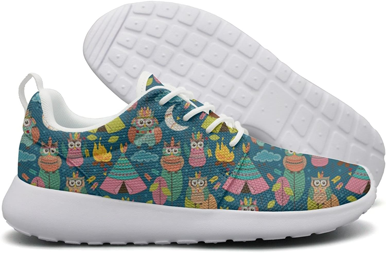 Tribal Owls Night Women Neutral Design Running shoes Hunting Active