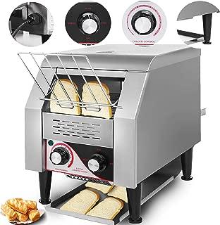 VEVOR 110V Commercial Conveyor Toaster 150PCs per Hour 1350W Heavy Duty Stainless Steel for Restaurant Breakfast, Sliver