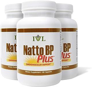 IVL NattoBP Plus Cardiovascular Support Supplement, 60 Capsules per Bottle (Pack of 3)