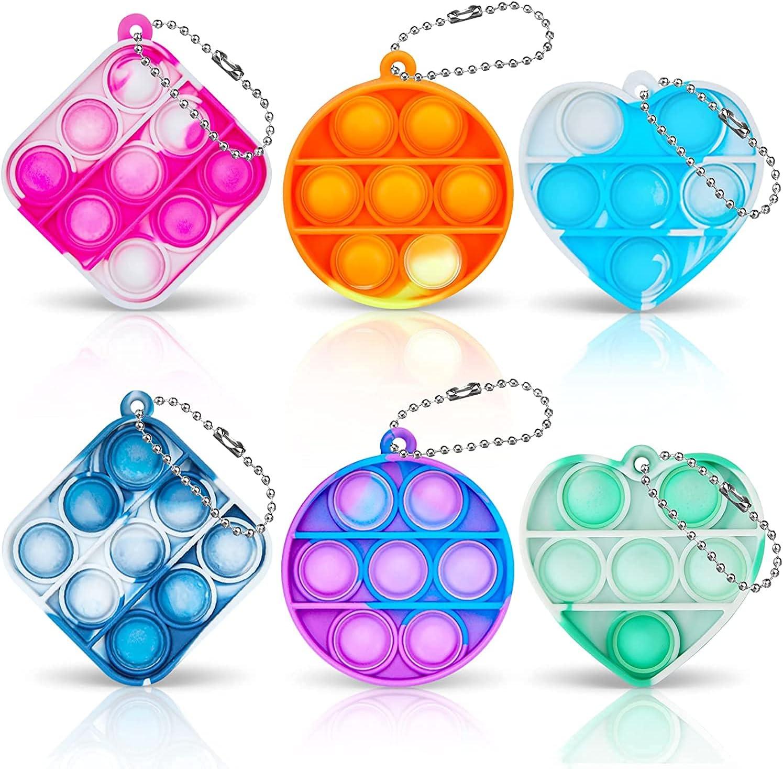 Chanarily Manufacturer OFFicial shop 6Pcs Mini Pop Sensory Keychai NEW Popper Toy Fidget