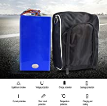 Yoli 48V 30AH Folding Electric Bike Battery Suitable for 250w to 750w and 1000w to 2000w Motor ebike Battery with Bag