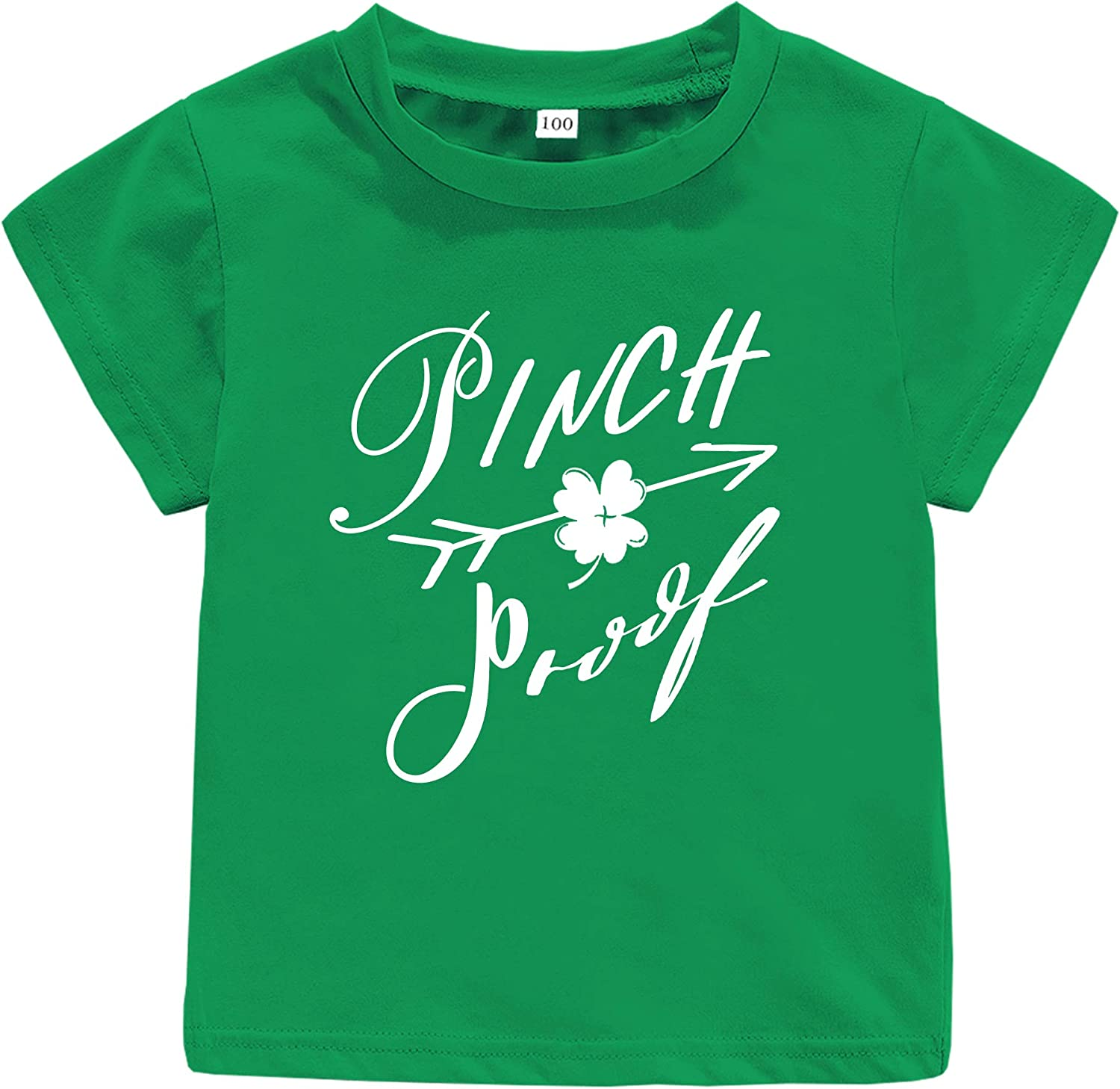 St. Patrick's Day Toddler Baby Shirt Outfit Lucky Charm Short Sleeve Top