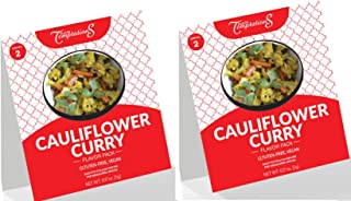 CAULIFLOWER CURRY INDIAN FOOD SPICES by Flavor Temptations. Home Cook Masala Dish with Beginner Seasoning Set. VEGAN, Glut...