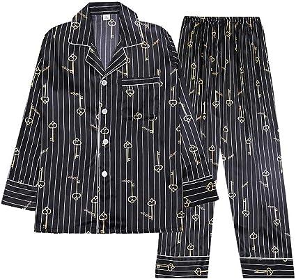 KYEEY Pijamas de Hombre Hombre en Traje de Seda de los ...