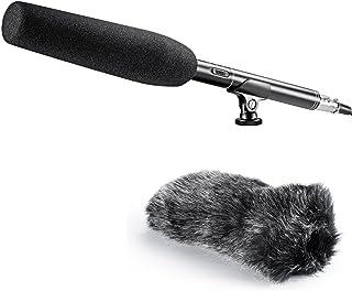 Neewer 14 inches Uni-Directional Shotgun Mono PRO Condenser Microphone with Furry Windscreen Muff for Canon Nikon Sony Cam...
