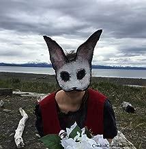 Scary Rabbit Mask - Creepy Bunny Mask - White Rabbit Masquerade Mask - Adult Halloween Mask - Splicer Style Handmade Custom Movie Props