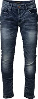 Mens Super Stretch Washed Denim Jeans Flex Relaxed Skinny Fit Tapered Leg