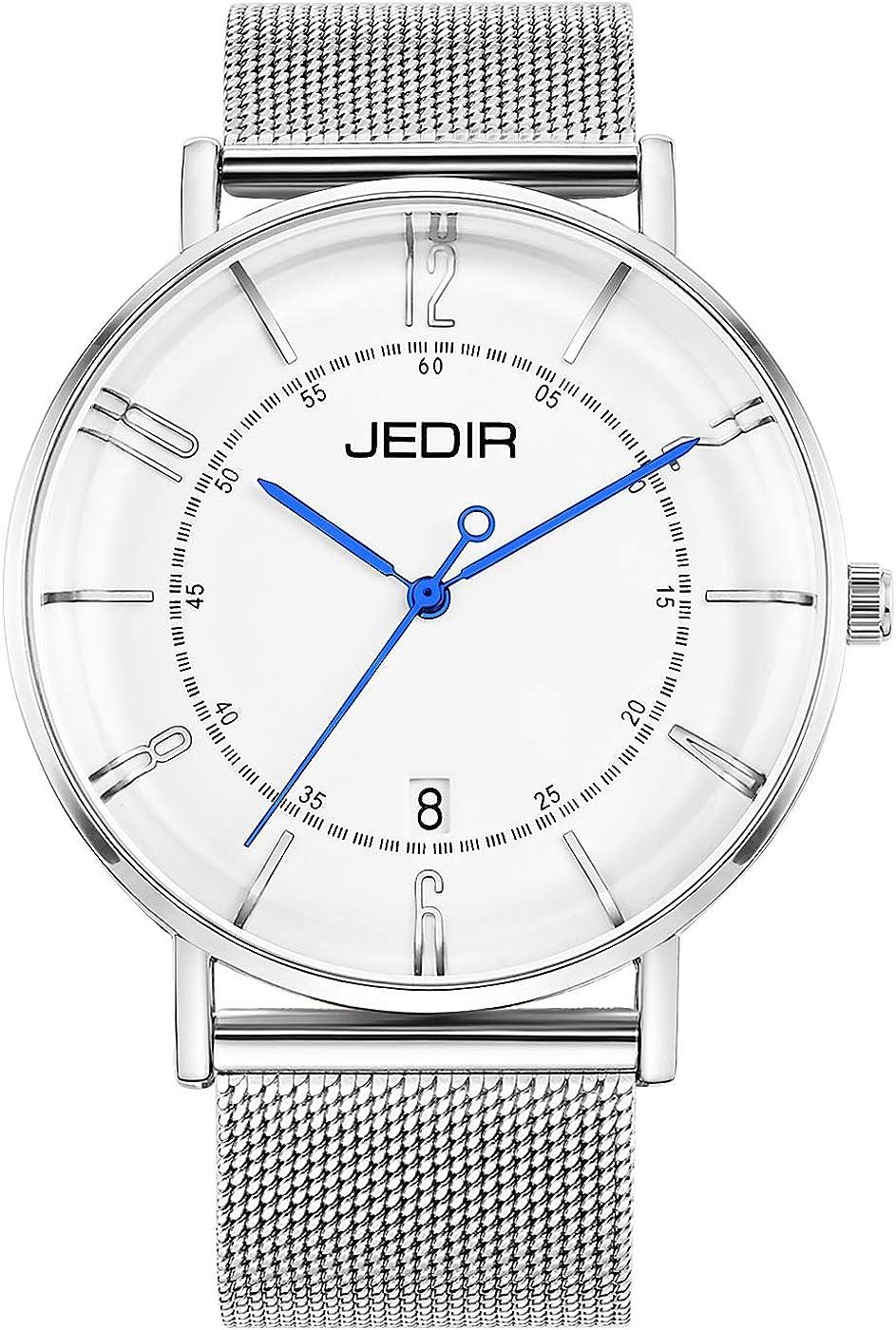 BUREI Men Max 66% OFF Classic Simple Max 80% OFF Slim Quartz Wrist Watch Calend Big Dial