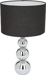 Ranex 6000.075 Lampe de table - abat-jour noir, fonction gradation tactile