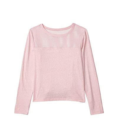 Lorna Jane Cover-Up Cropped Long Sleeve Top (Dusty Rose) Women