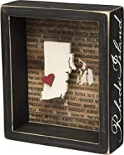 Primitives by Kathy State Pride Box Sign, Rhode Island