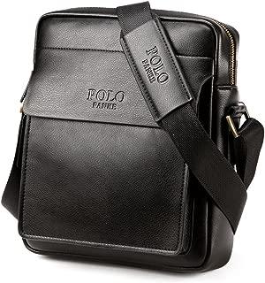 Polo Mann echtes Leder Apple iPad Tasche Messenger Schultertasche lässig Crossbody Business Handtasche Aktentasche braun schwarz