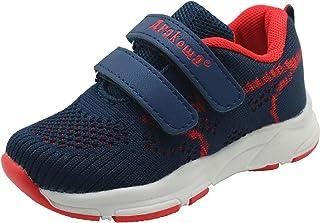 Apakowa Toddler Kid's Sneakers Boys Girls Hook and Loop Casual Running Shoes