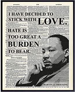 Inspirational Martin Luther King, MLK, Quote Dictionary Wall Art, Home Decor –..