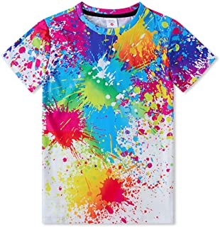 Idgreatim Boys Girls Casual T Shirt 3D Graphic Crewneck Short Sleeve Tops Tees 6-16 Years