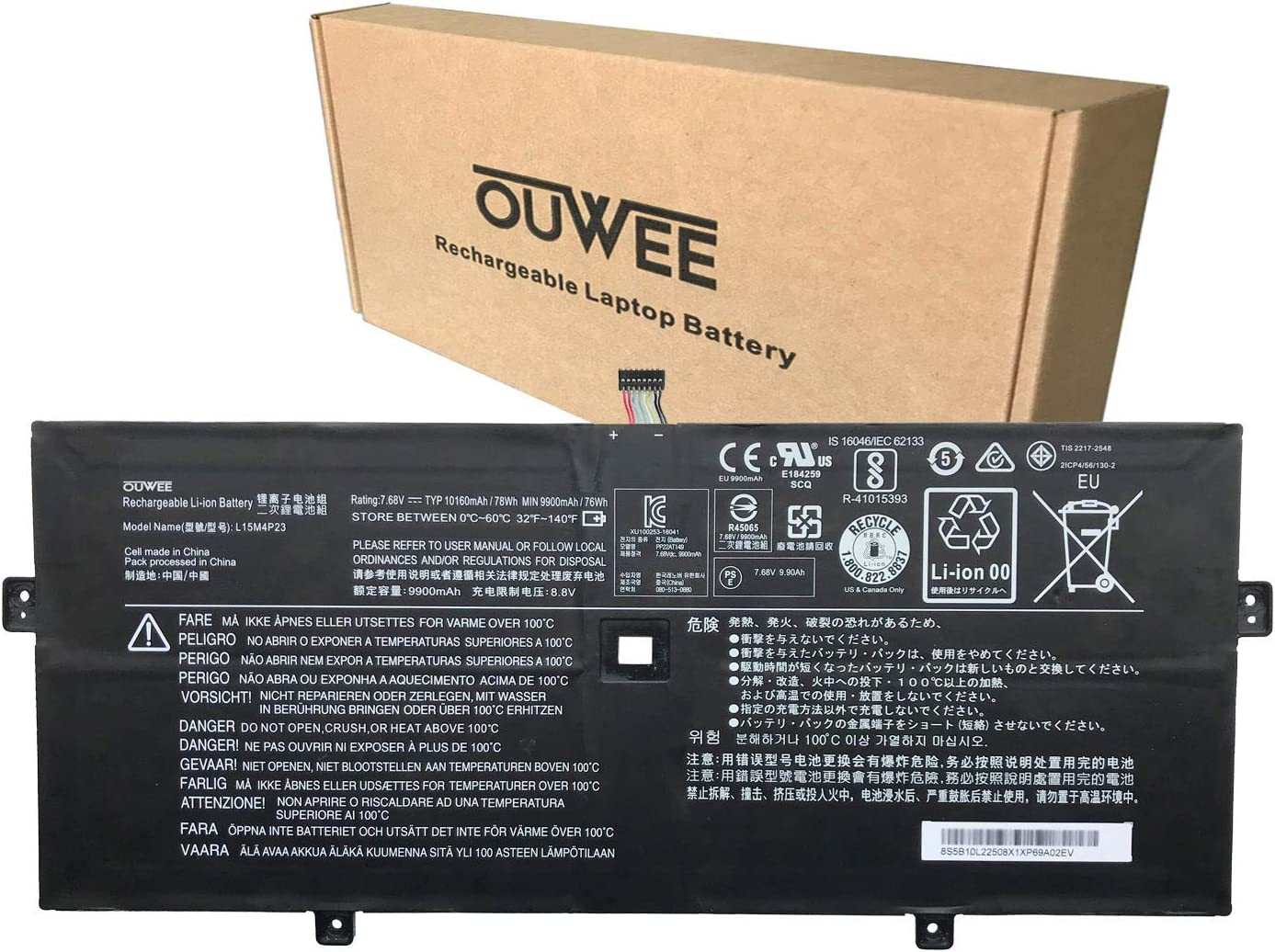 OUWEE Purchase L15M4P23 Laptop Battery Compatible Lenovo 5 Trust Pro with Yoga