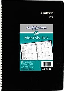 DayMinder Monthly Planner 2017, Wirebound, 7-7/8 x 11 7/8