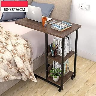 モバイル コンピューター テーブル 高さ調節式,overbed 表 ホイール付き,ライティング デスク 病院 カート ラップトップ テーブル 本棚-v 60x38cm(24x15inch)