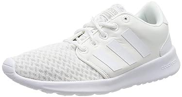 adidas Qt Racer, Women's Running Shoes, White (Ftwr White/Aero Pink S18/Light Granite)