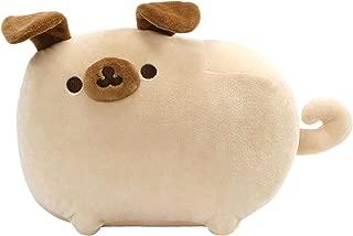🏆Premium Pack Pusheen Pugsheen Stuffed Plush Dog with Poseable Ears, Tan, 9.5