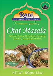 Rani Chat Masala (14 Spice Blend) Tangy Indian Seasoning 3.5oz (100g) ~ All Natural, No MSG! | Vegan | No Colors | Gluten Free Ingredients | NON-GMO | Indian Origin