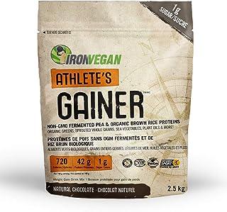 IRONVEGAN Gainer Chocolate Protein Powder, 2500 GR