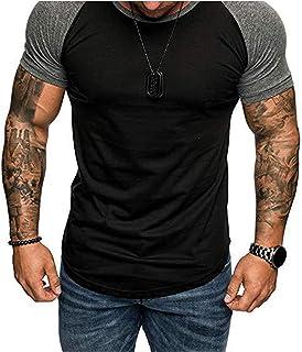 rrhss Mens Muscle Gym T-Shirts Short Sleeve Workout...