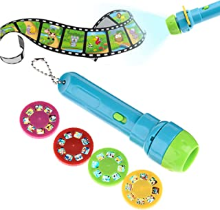 Mini Projektor Taschenlampe Fackel Lern Leuchtender Spielzeug Für Kinder #R