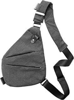 Men's Women's Digital Silm Shoulder Bag Men Multi-functional Crossbody Backpack Anti-theft Gun Chest Bag