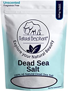 Sponsored Ad - Natural Elephant Dead Sea Salt Fine Grain 5 lbs (2.25 kg) 100% Natural & Pure for Psoriasis Eczema Acne & O...