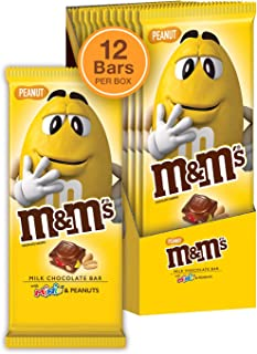 M&M'S Peanut & Minis Milk Chocolate Candy Bar, 3.9 Ounce Bar, Pack of 12