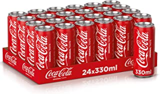 Coca-Cola Regular Carbonated Soft Drink Cans, 330 ml (Pack of 24)