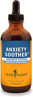 Herb Pharm Anxiety Soother Liquid Herbal Formula with Kava For Nervous System Support - 4 Ounce
