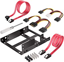 2.5 to 3.5 Adapter, Inateck SSD Mounting Bracket with SATA Cables and SATA Power Cable, ST1002S