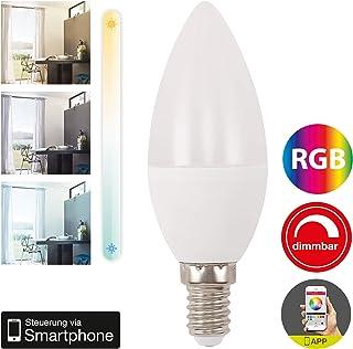Briloner Leuchten – WiFi LED Bombilla RGB, regulable y temporizador Via App, Amazon Echo