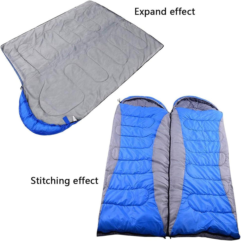 Slaapzak Voor Binnen En Buiten, Lichtgewicht En Waterdicht Met Compressiezak, Comfort Voor 4 Seizoenen Kamperen, Reizen, Wandelen Blue