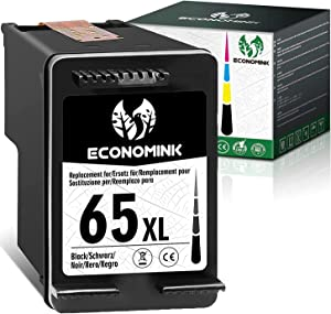 Economink Remanufactured Ink Cartridge Replacement for HP 65 65XL 65 XL Black for Envy 5055 5052 5010 5014 5012 5030 DeskJet 3755 3752 2652 2600 2622 2655 2640 3700 2636 3720 High Yield