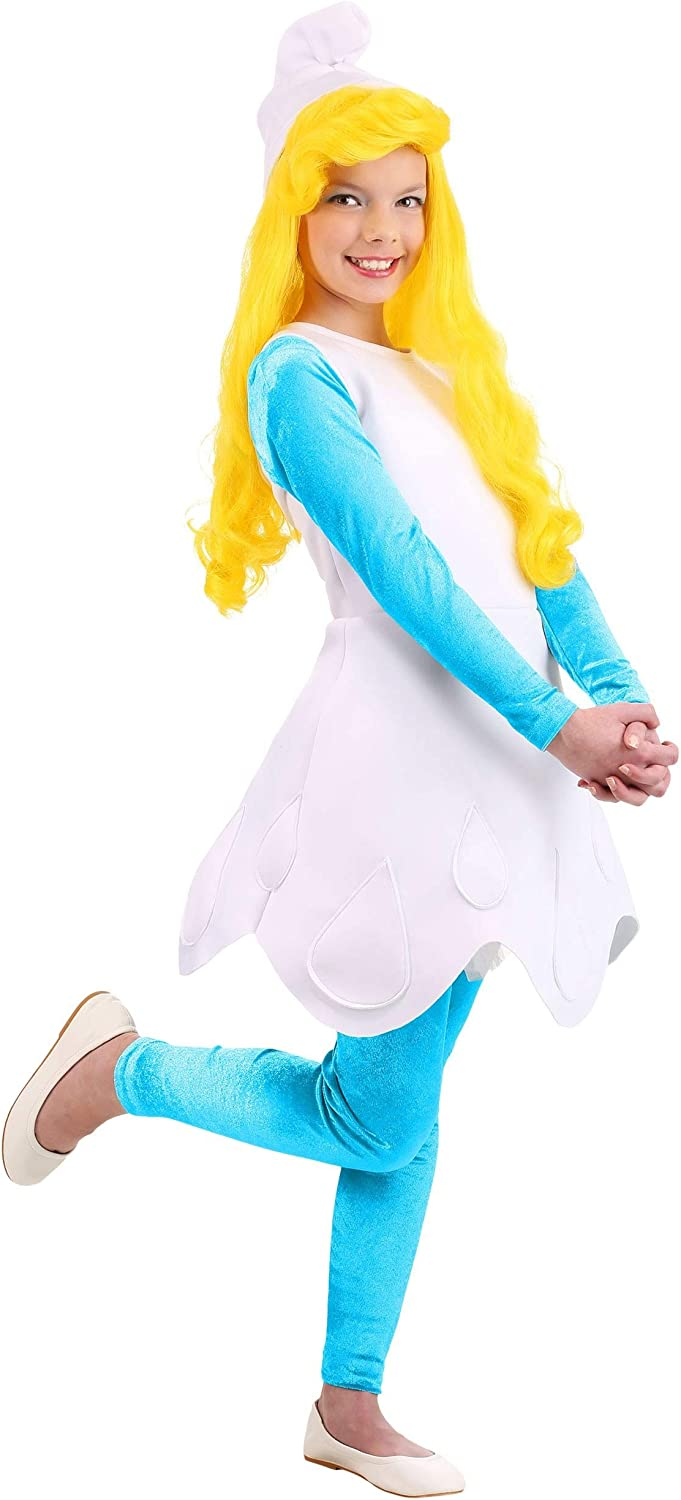Girls Smurfette Costume Award-winning store The Manufacturer direct delivery Kid's Smurfs