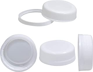 Pack of 25 Caps for Empty Juice Bottles - White Tamper Seal Lids for 4, 8,12, 16, and 32 oz Empty Plastic Milk containers