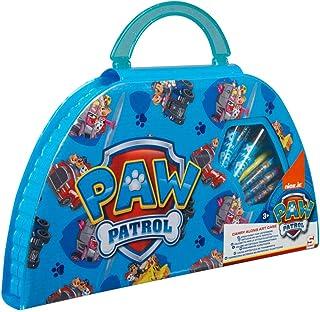 Paw Patrol Zestaw do majsterkowania dla dzieci, flamastry i kredki, akcesoria do szkoły, zestaw 50 sztuk, przenośna walizk...