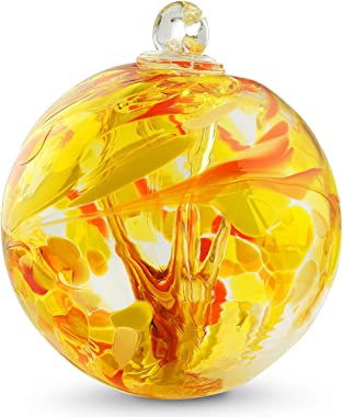 Witch Ball Mango by Iron Art Glass Designs