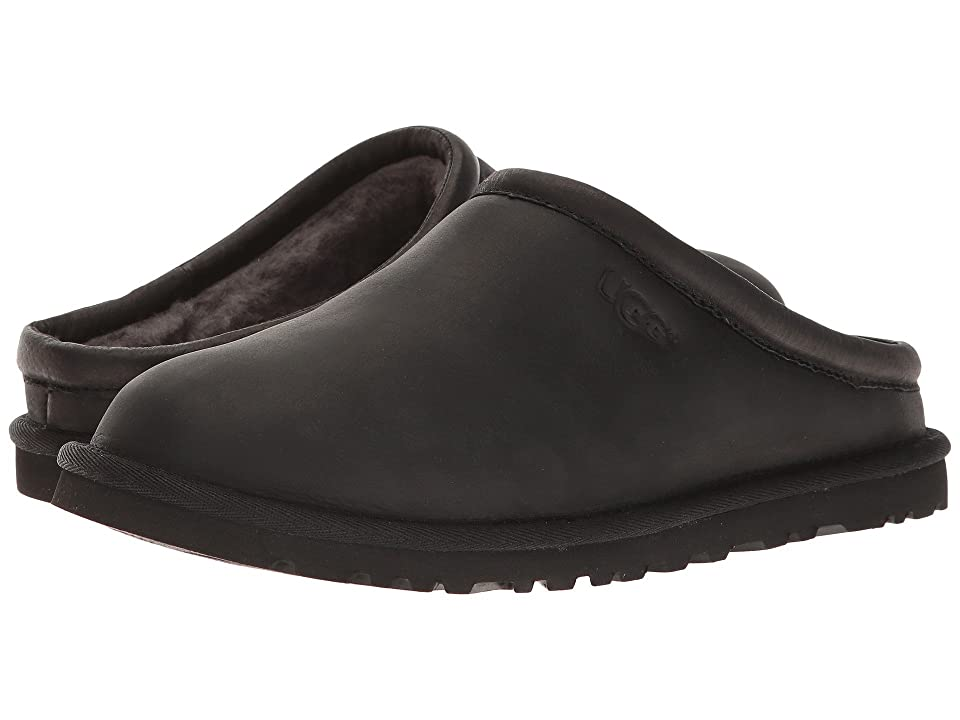 UGG Classic Clog (Black Leather) Men