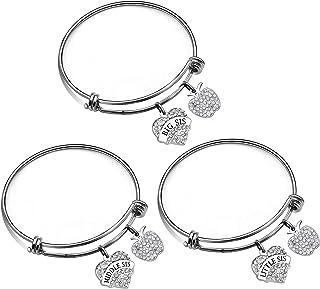 JJIA Sister GITS, 3Pcs Bracelets Bangle for Big Sister Middle Sister Little Sister Birthday